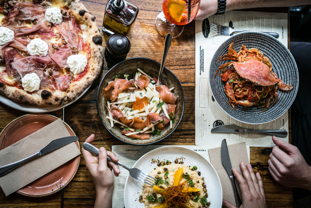 A delicious spread from one of EatClub's founding partners - +39 Pizzeria